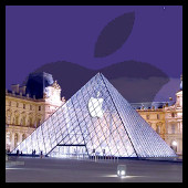 Apple Francia (piramide louvre)