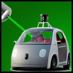 Coche autonomo de Google (Puntero Laser)