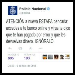 Policia (Estafa bancaria en transferencias por Internet)