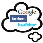 google facebook twitter