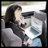 mujer portatil movil