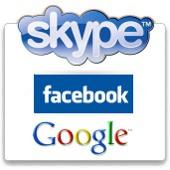 skype, facebook y google
