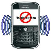 blackberry - no connect