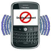 blackberry - no connect