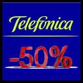 telefonica, menos del 50 por ciento