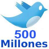 twitter - 500 millones