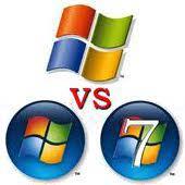 Windows XP contra Vista y 7