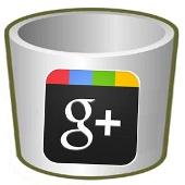 google+ - papelera