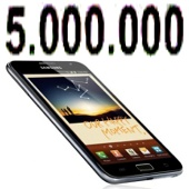 galaxy note - 5 millones