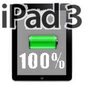 ipad 3 - bateria al 100 por cien