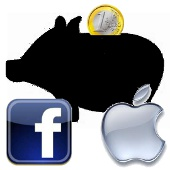 apple y facebook, hucha