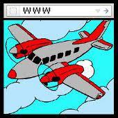 avión web