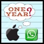 Apple y Whatsapp (1 year)
