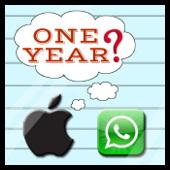 Apple y Whatsapp (1 year)