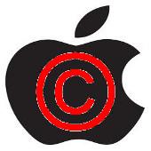 Apple copyright (rojo)