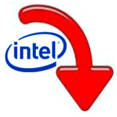Intel (flecha abajo)
