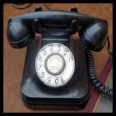 telefono negro antiguo