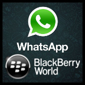 Whatsapp y BlackBerry World