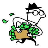 Hombre maletin dinero
